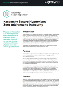 Kaspersky Secure Hypervisor: Zero tolerance to insecurity