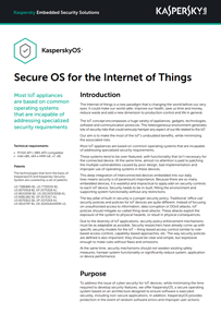 KasperskyOS: Secure OS for the Internet of Things